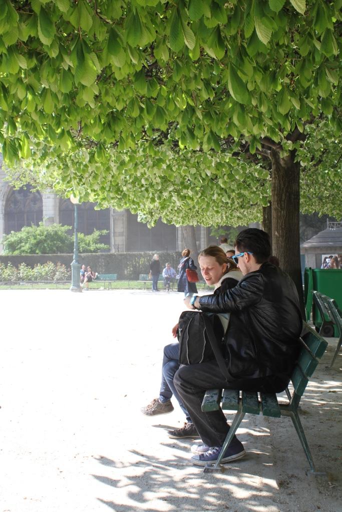 puisto Notre Damen takana